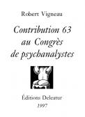 Contribution63 au Congrès de psychanalystes
