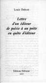 Lettre d'un éditeur de poésie à un poète en quête d'éditeur